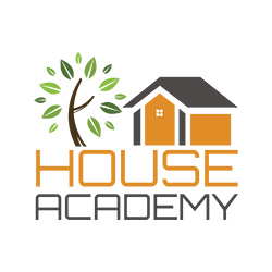 House Academy Logo House and Tree