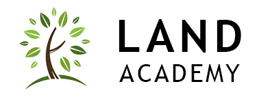 Land Academy Logo with Tree